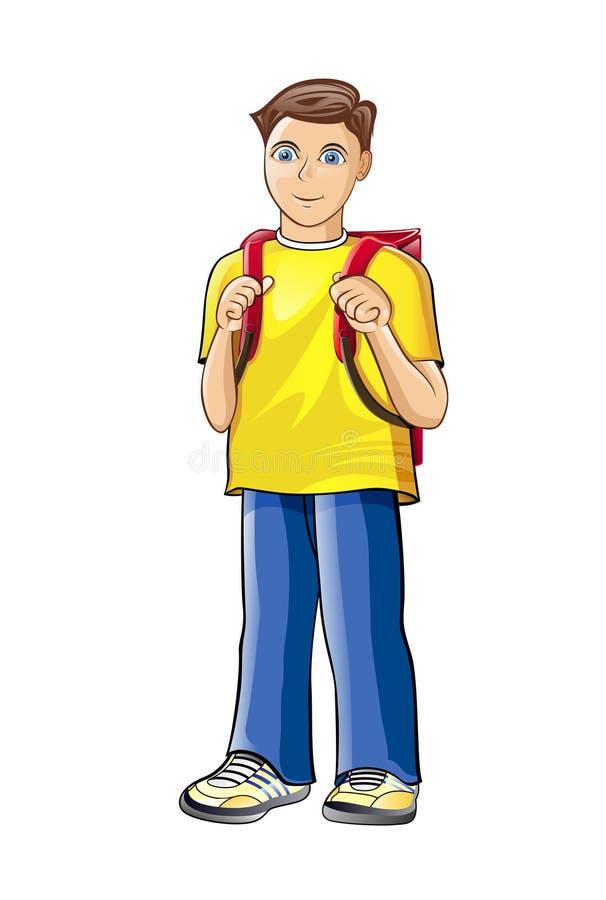 Download Schoolboy stock vector. Image of school, blue, person - 25857254