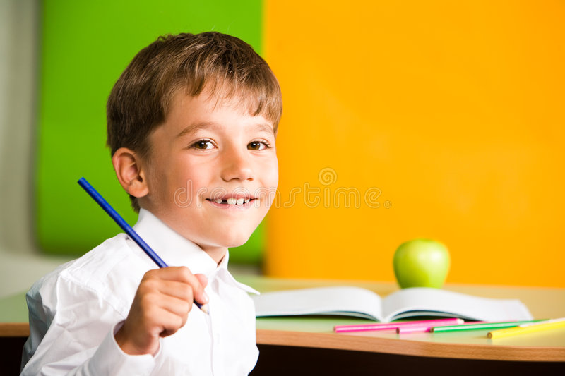 Download Schoolboy stock image. Image of elementary, grade, drawing - 6366259
