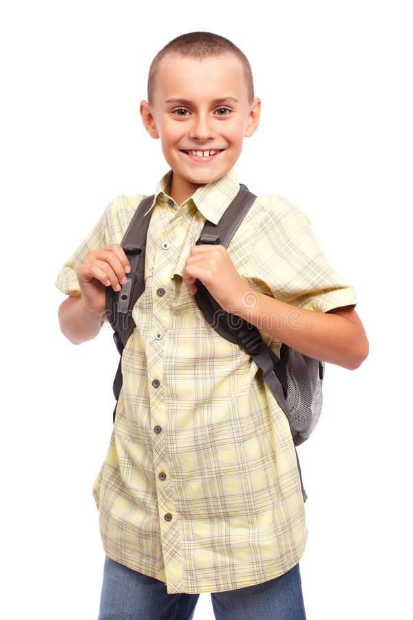 Download Schoolboy with backpack stock image. Image of schoolchild - 20474189