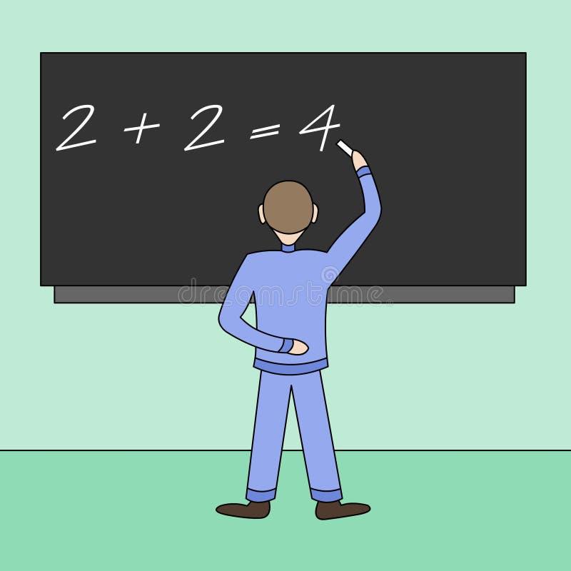 Download The schoolboy at a board stock illustration. Illustration of floor - 18348627