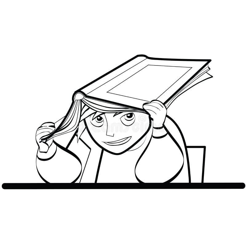 Schoolboy Desk textbook vector illustration