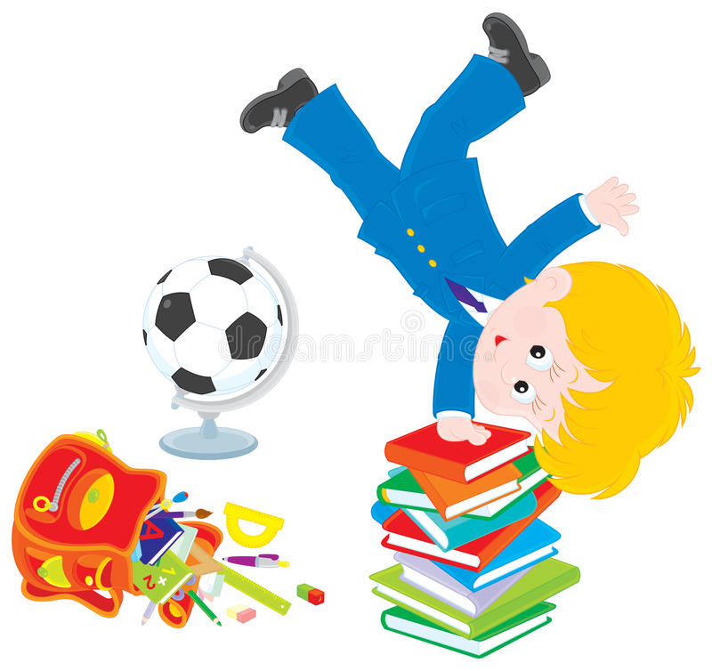 Download Schoolboy After Lessons Royalty Free Stock Image - Image: 28868556