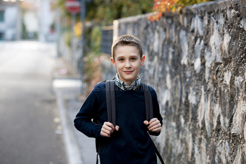 Download Schoolboy Outdoors Stock Image - Image: 17006791