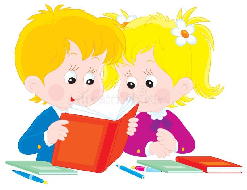 Download Schoolboy and schoolgirl stock vector. Image of first - 28800505