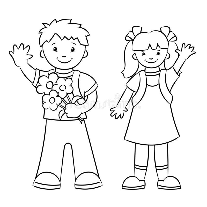 Boy Girl Coloring Page Stock Illustrations – 2,035 Boy Girl Coloring Page  Stock Illustrations, Vectors & Clipart - Dreamstime