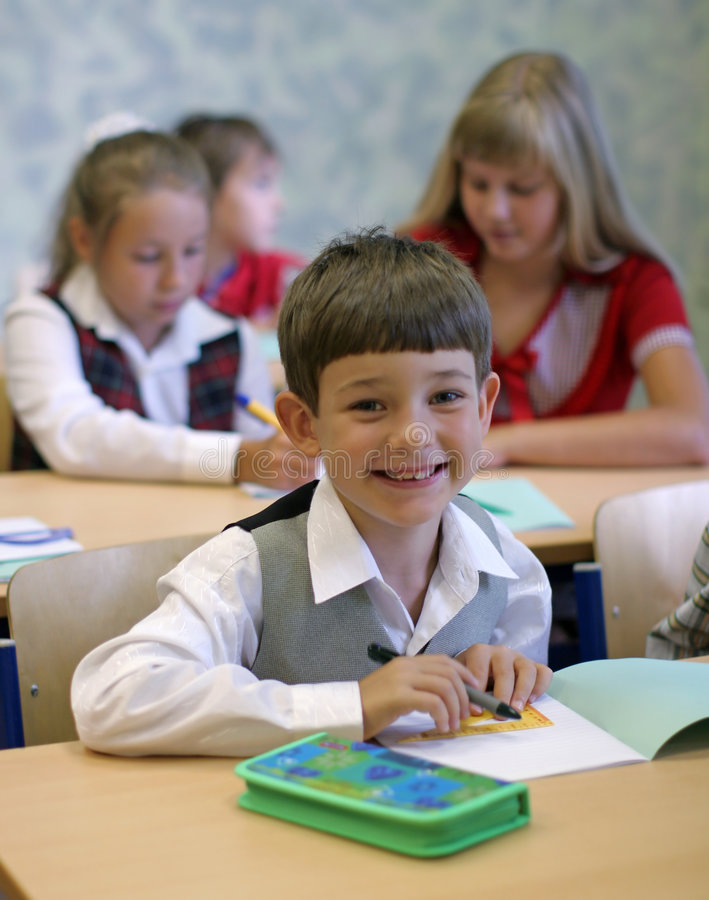 Download Schoolboy smiling stock image. Image of candid, classmate - 3292989