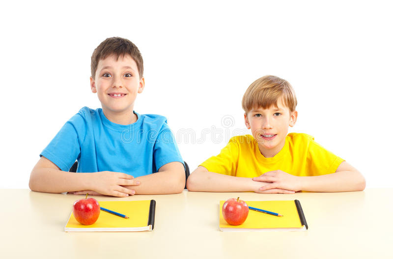 Schoolboys royalty free stock images