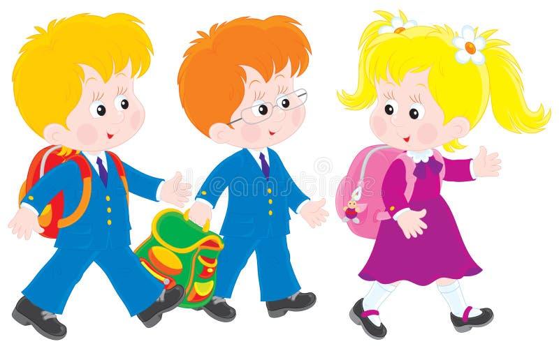 Download Schoolboys and schoolgirl stock vector. Image of education - 28800506