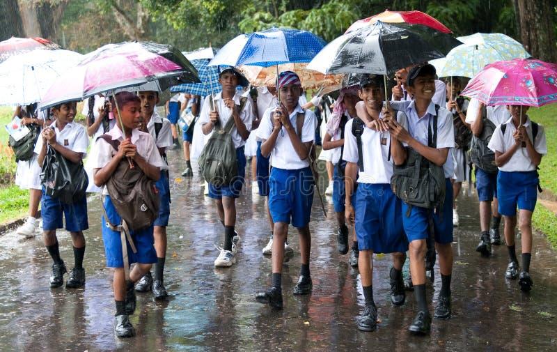 Schoolboys in uniform stock image