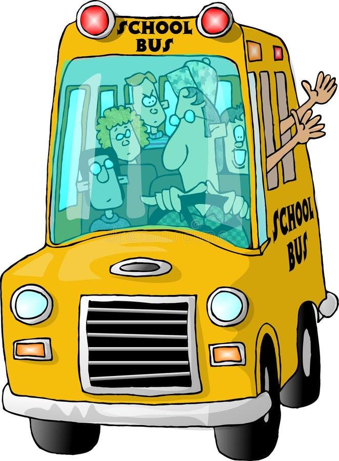 schoolbus 库存例证