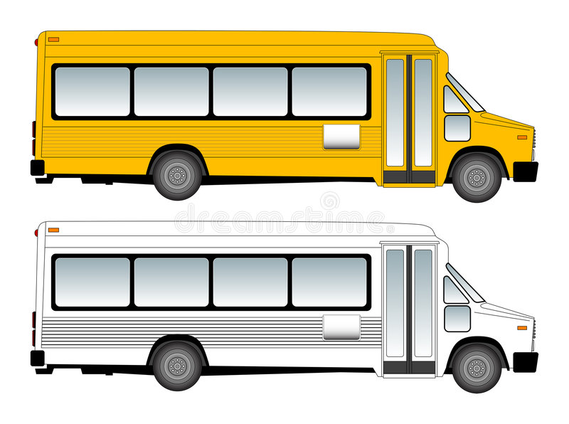 Schoolbus vektorabbildung lizenzfreie abbildung