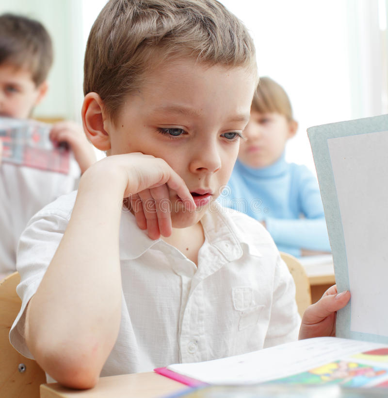 Download Schoolchild In A Class Royalty Free Stock Image - Image: 15167616