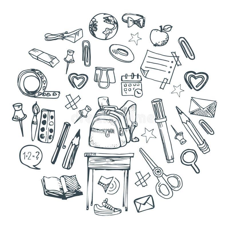 Schooldingen vector illustratie