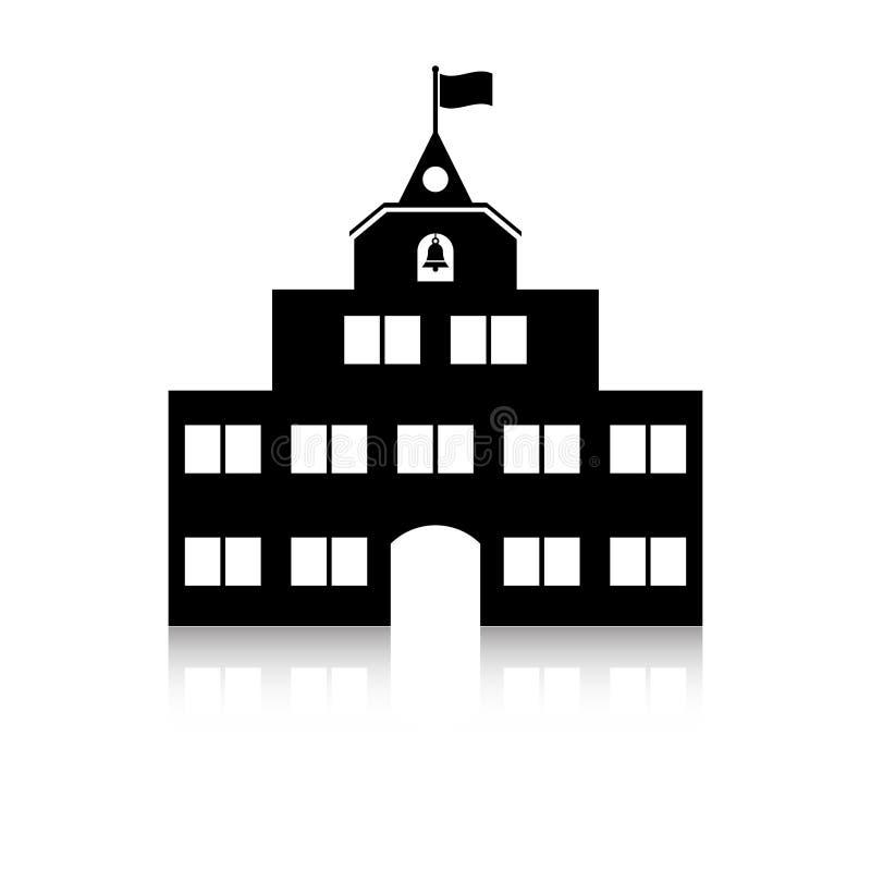 Schoolgebouw stock illustratie