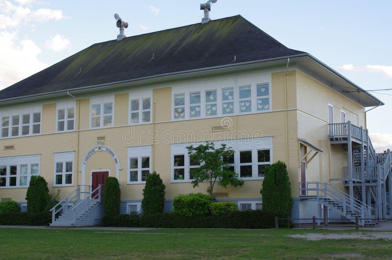 Schoolgebouw van Sir Guy Carleton Elementary School royalty-vrije stock fotografie