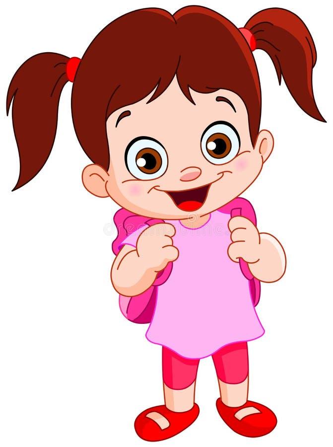 Schoolgirl. Illustration of a cute schoolgirl vector illustration