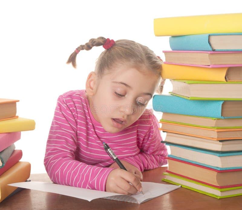 Download Schoolgirl stock photo. Image of drawing, hair, beautiful - 23439184
