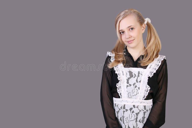 schoolgirl stockbild