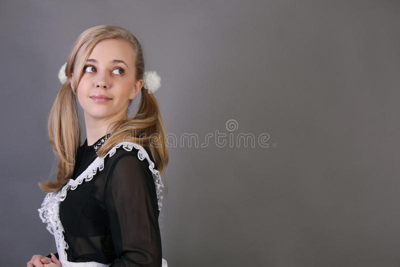schoolgirl royaltyfria foton