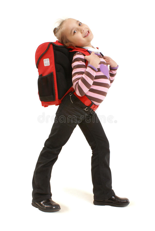 Download Schoolgirl With Backpack Royalty Free Stock Images - Image: 18189799