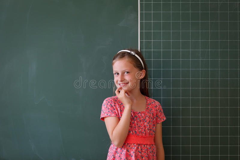 Download Schoolgirl And Blackboard With Copy Space Stock Image - Image: 25643573