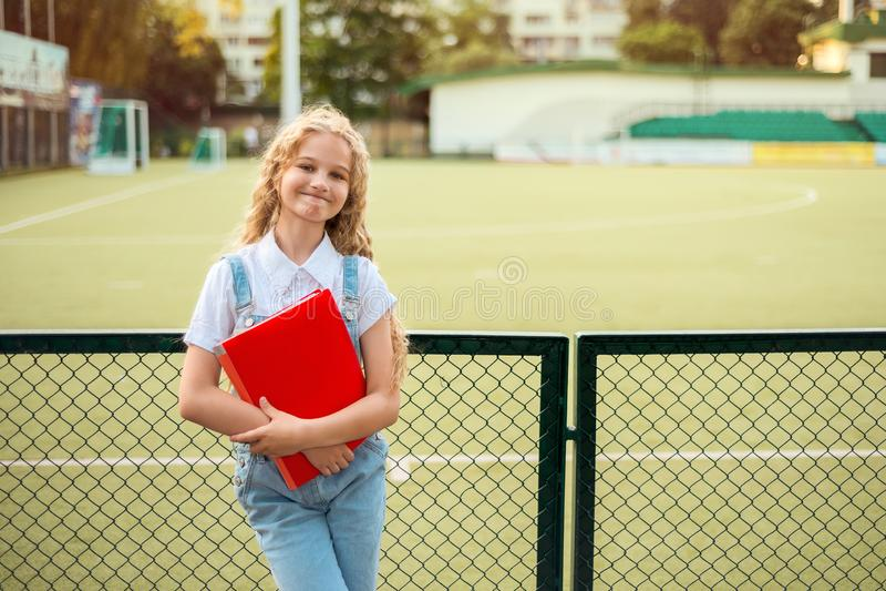 Highschool girl with blonde hair