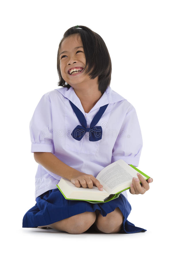 Schoolgirl With Book Royalty Free Stock Photography