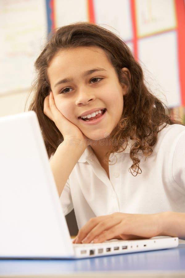 Download Schoolgirl In IT Class Using Computer Stock Photo - Image: 18617968