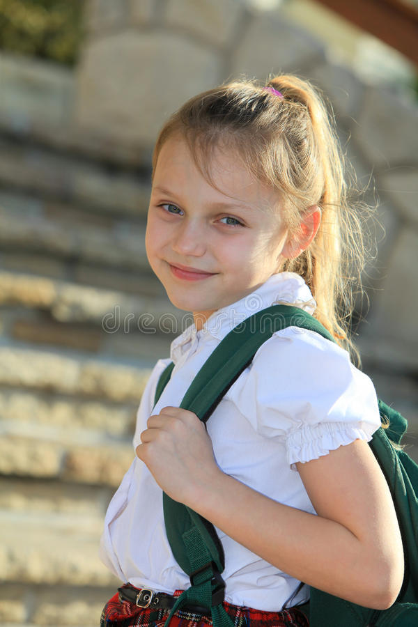 Download Schoolgirl stock image. Image of happy, elementary, childhood - 33528071