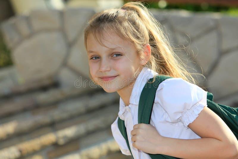 Download Schoolgirl stock photo. Image of outdoor, primary, back - 33528260