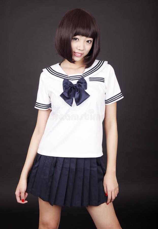 Free Schoolgirl In Uniform Royalty Free Stock Photography - 12873667