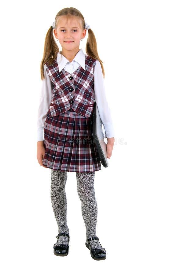 Download Schoolgirl With Laptop. stock photo. Image of schoolgirl - 11998852