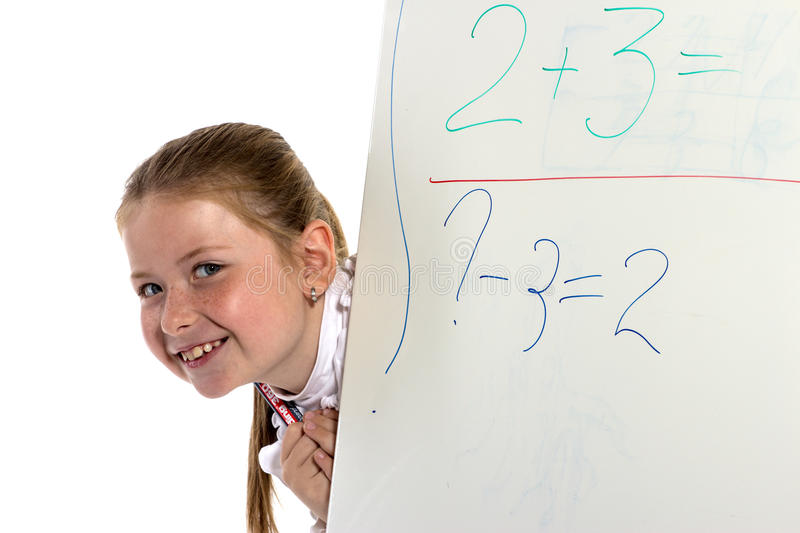 Schoolgirl Looks From A Board Stock Images