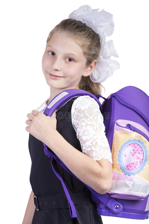 Schoolgirl royalty free stock image