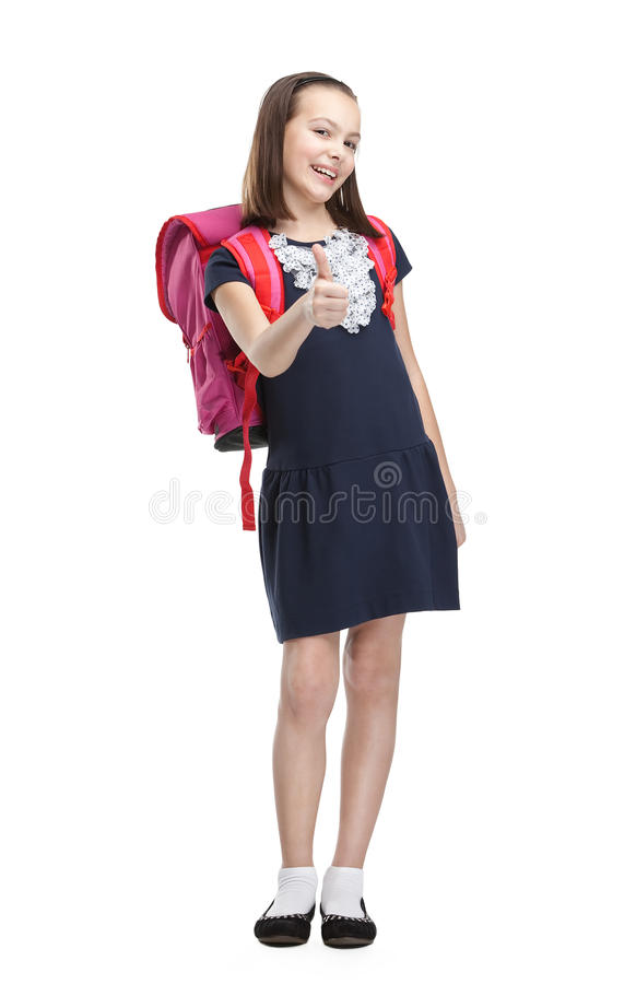 Download Schoolgirl With Pink Briefcase Stock Image - Image: 26322901