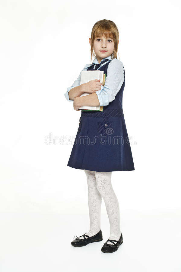 Download Schoolgirl with textbook stock photo. Image of young - 12281666