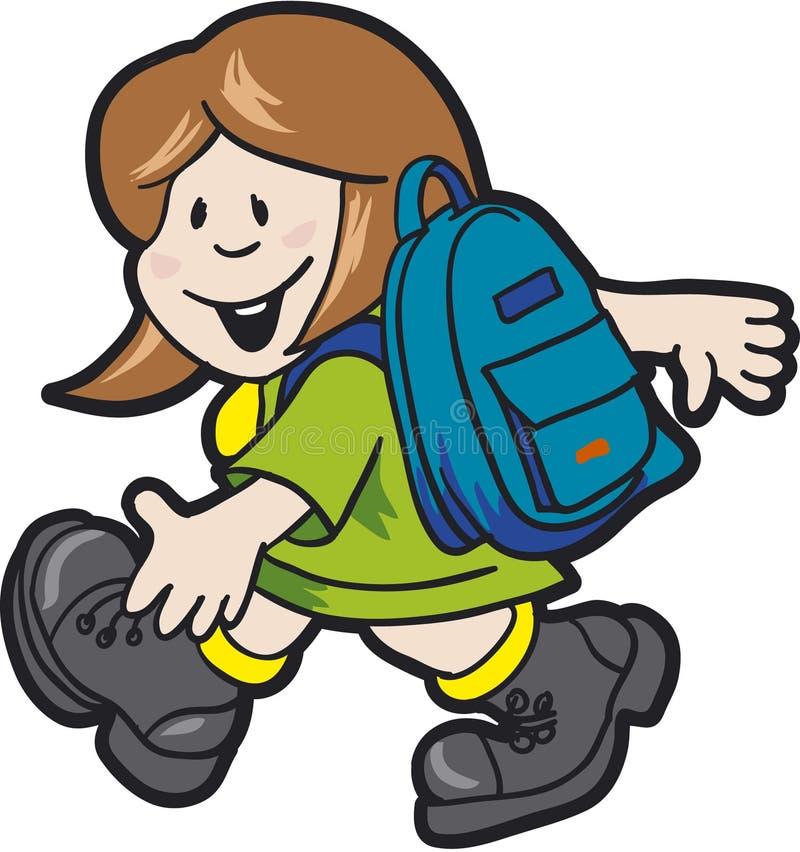 Schoolgirl02 illustrazione vettoriale