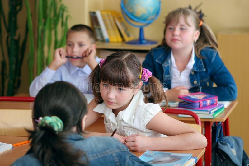 Schoolgirls secrets royalty free stock images