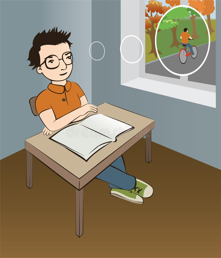 Schooljongen stock illustratie