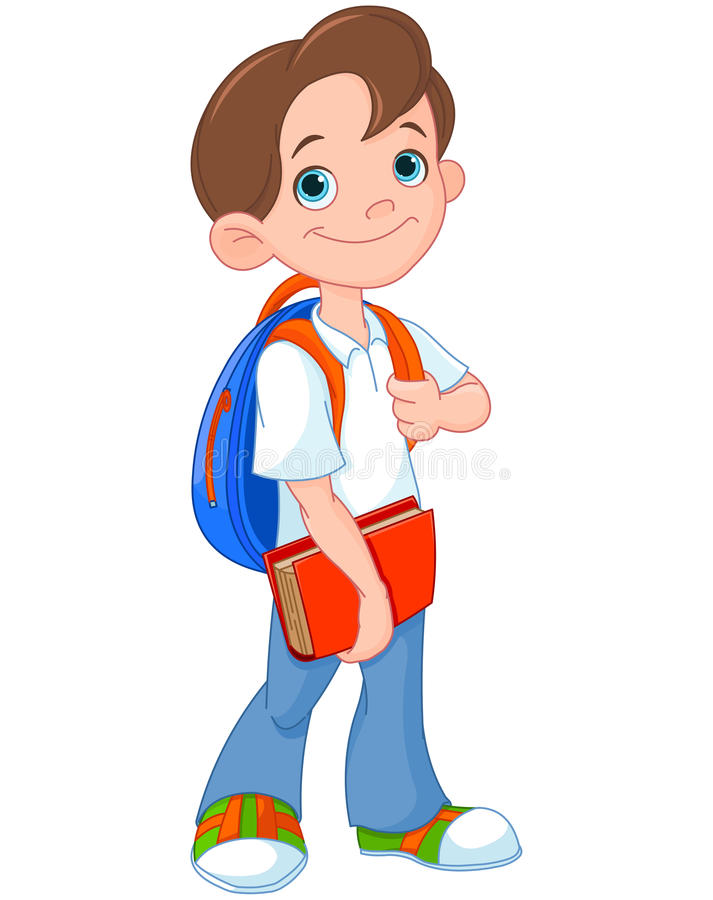 Schooljongen vector illustratie