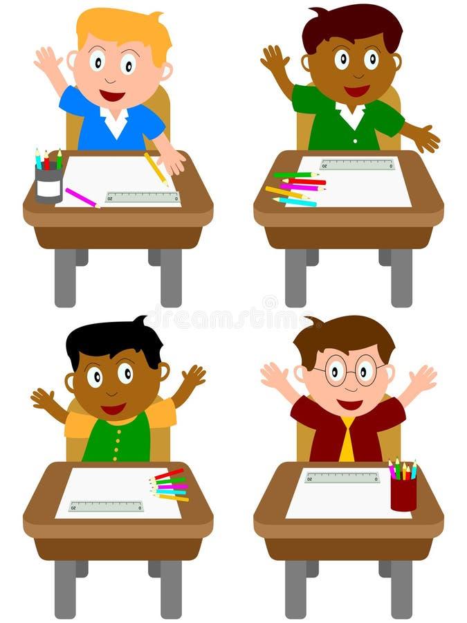 Schooljongens stock illustratie