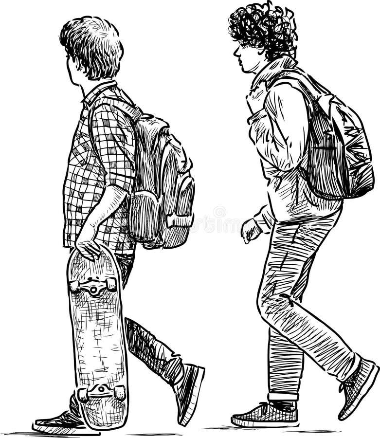 schooljongens vector illustratie
