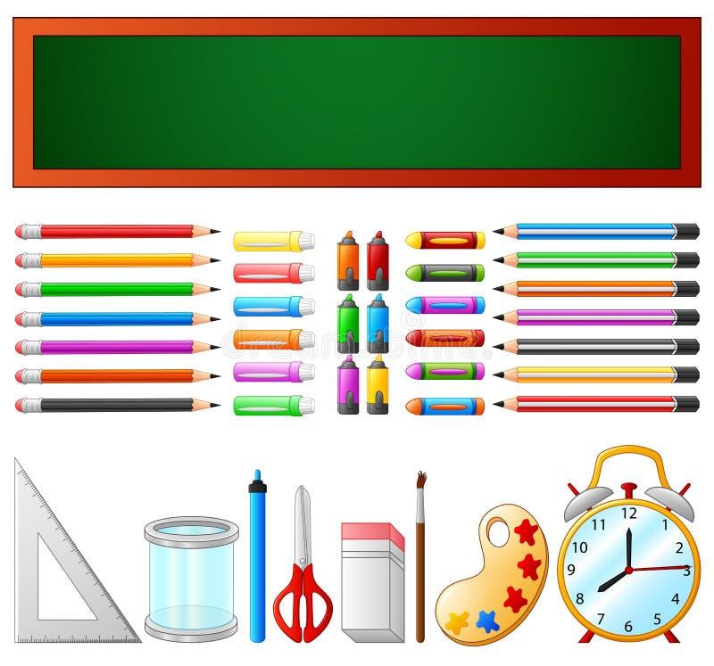 Schoollevering en bord royalty-vrije illustratie