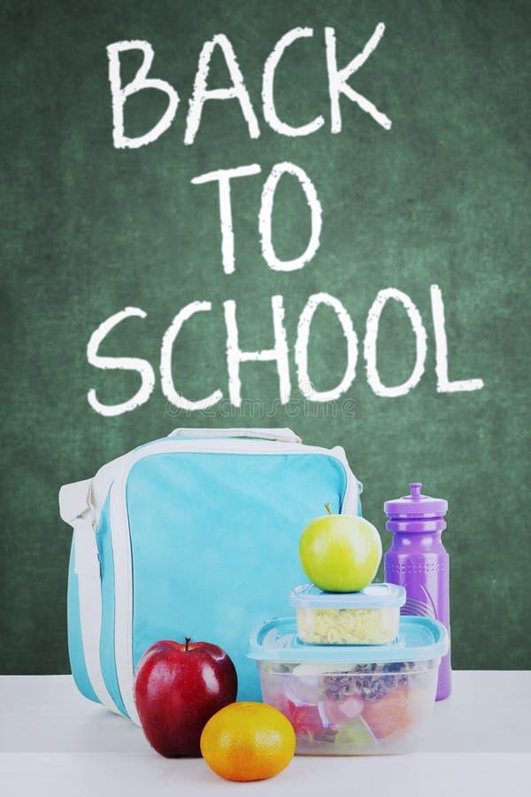 Schoolmaaltijd voor terug naar school stock foto's