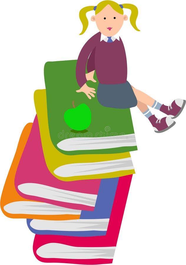 Schoolmeisje stock illustratie