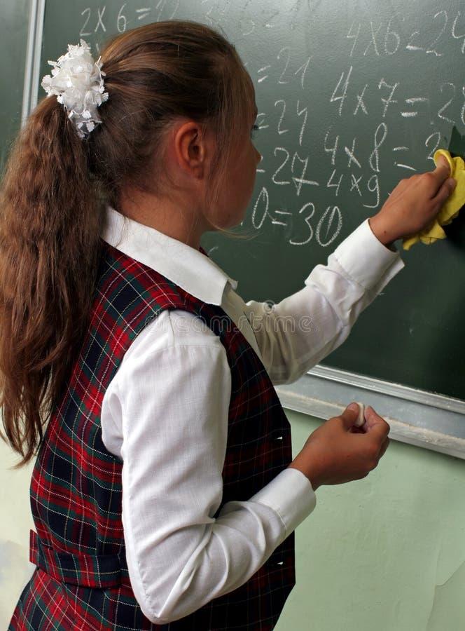Schoolmeisje stock fotografie