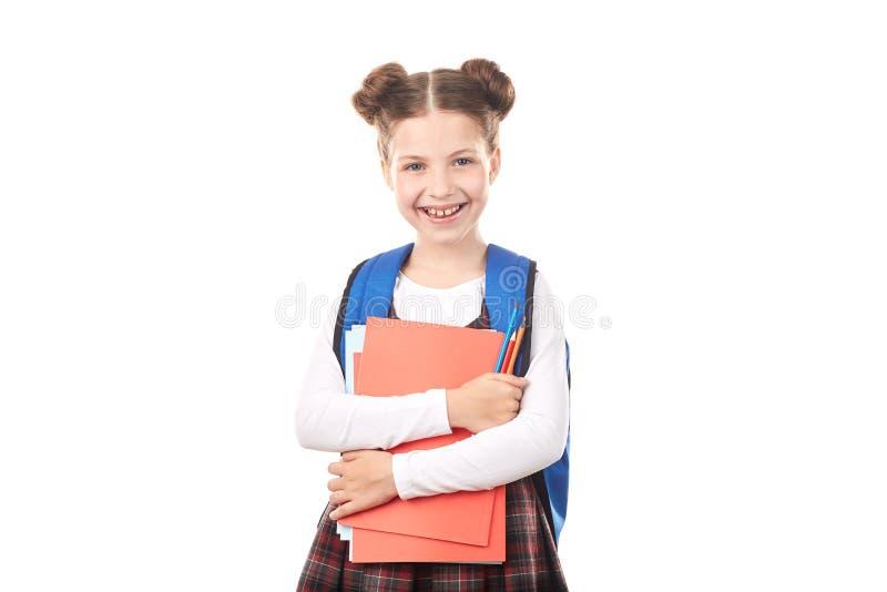 Schoolmeisje die geluk voelen royalty-vrije stock foto