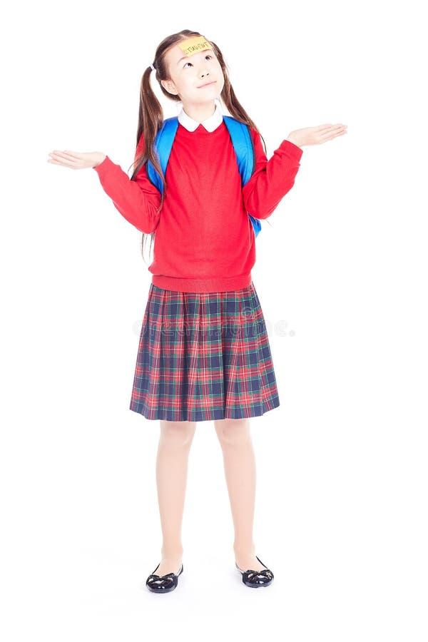 Schoolmeisje in Eenvormig royalty-vrije stock afbeeldingen