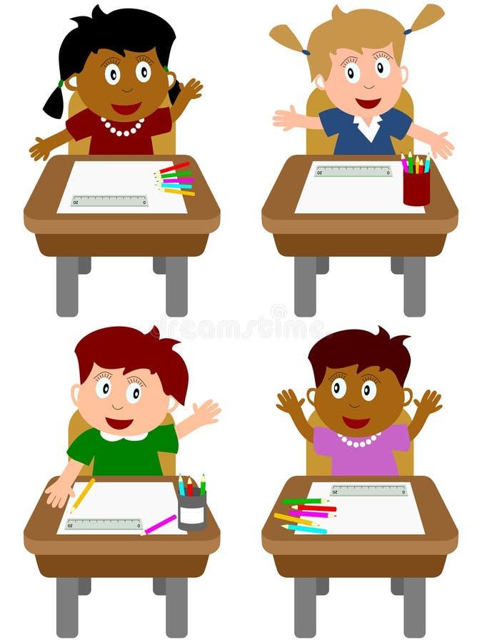 Schoolmeisjes stock illustratie