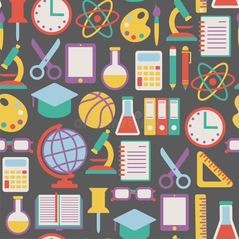 Schoolpatroon vector illustratie